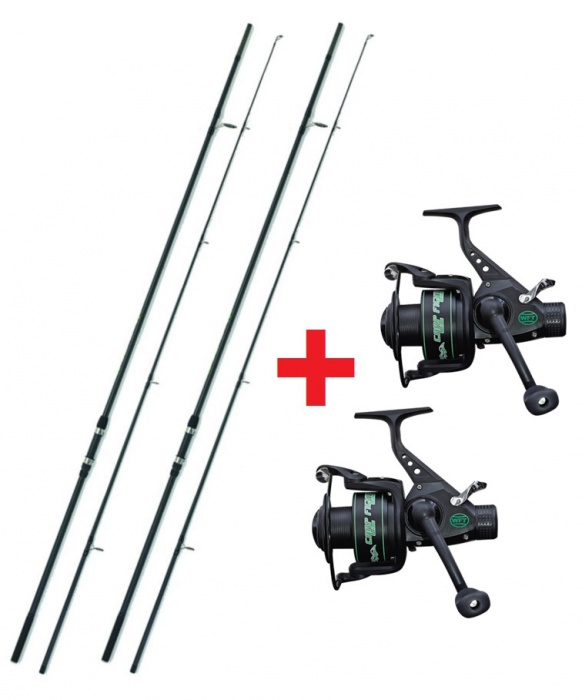 Prut Pelzer Carp Fighter LR 50mm 12ft 3,00lb 1+1 a Naviják Carp Fighter 60 1+1